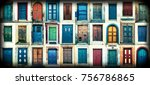 composition of different... | Shutterstock . vector #756786865