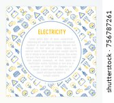 electricity concept with thin...   Shutterstock .eps vector #756787261