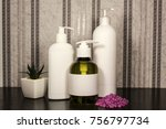 cosmetics with empty white... | Shutterstock . vector #756797734