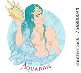 zodiac. vector illustration of... | Shutterstock .eps vector #756800041