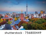 tokyo. cityscape image of tokyo ...   Shutterstock . vector #756800449