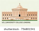 ucl. university college london. ... | Shutterstock .eps vector #756801541