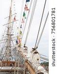 riga  latvia   july 26  regatta ... | Shutterstock . vector #756801781