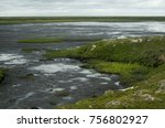 green summer tundra on the... | Shutterstock . vector #756802927