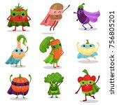 cartoon flat characters set of... | Shutterstock .eps vector #756805201