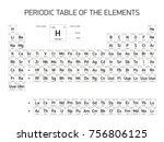 periodic table of the elements  ... | Shutterstock . vector #756806125