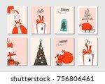 hand drawn vector abstract fun...   Shutterstock .eps vector #756806461
