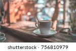 white coffee cup | Shutterstock . vector #756810979