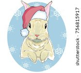 the christmas poster with the... | Shutterstock . vector #756815917
