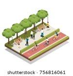 urban landscape composition... | Shutterstock .eps vector #756816061