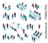 business education isometric... | Shutterstock .eps vector #756817441