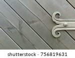 Ornate Fitting On Wooden Door