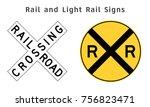 regulatory traffic sign. rail...