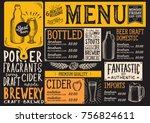 beer drink menu for restaurant... | Shutterstock .eps vector #756824611