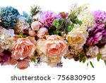decorative garland of...   Shutterstock . vector #756830905