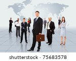 businessmen standing in front... | Shutterstock . vector #75683578