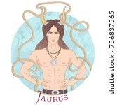 zodiac. vector illustration of... | Shutterstock .eps vector #756837565