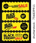 black friday sale banner layout ... | Shutterstock .eps vector #756839911