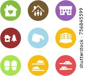 origami corner style icon set   ... | Shutterstock .eps vector #756845599