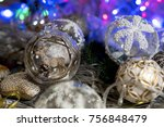 christmas decor toys with... | Shutterstock . vector #756848479