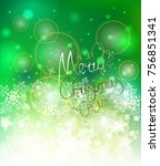 elegant christmas background... | Shutterstock .eps vector #756851341
