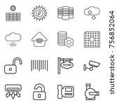 thin line icon set   sun power  ... | Shutterstock .eps vector #756852064