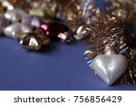 winter holidays decor background | Shutterstock . vector #756856429