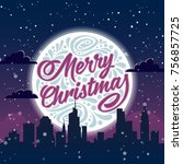 holiday greeting card with... | Shutterstock . vector #756857725