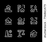 set line icons of architectural | Shutterstock .eps vector #756861475