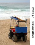Lifeguard Buggy And Surfboard...