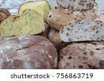 batch of artisan breads   Shutterstock . vector #756863719