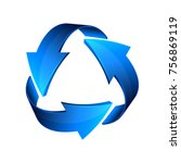 blue recycle arrows  recycle...   Shutterstock .eps vector #756869119