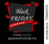 black friday sale in red and...   Shutterstock . vector #756869551