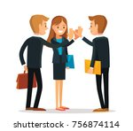 group of office workers | Shutterstock .eps vector #756874114