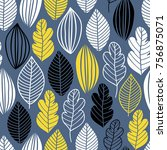 vector seamless pattern in... | Shutterstock .eps vector #756875071