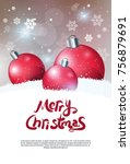 creative holiday poster merry... | Shutterstock .eps vector #756879691