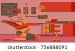 dentist office illustrations   Shutterstock .eps vector #756888091