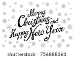 merry christmas and happy new... | Shutterstock .eps vector #756888361