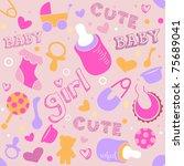 seamless background...   Shutterstock .eps vector #75689041