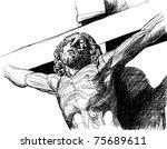 vector illustration of a christ ...