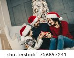 present for mom. happy... | Shutterstock . vector #756897241