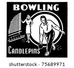 bowling candlepins   retro ad...