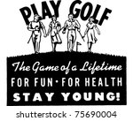 Play Golf 2   Retro Ad Art...