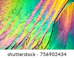 crystals in polarized light   Shutterstock . vector #756902434