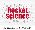 science concept  painted red... | Shutterstock . vector #756906049
