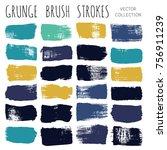 brush strokes set backgrounds.... | Shutterstock .eps vector #756911239