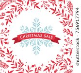 square christmas sale banner... | Shutterstock .eps vector #756917794