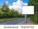 billboard mockup in german city | Shutterstock . vector #756919765