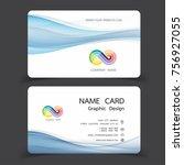 business card design set.... | Shutterstock .eps vector #756927055
