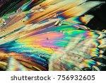 citric acid crystals in... | Shutterstock . vector #756932605